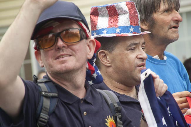 two men, one in uncle sam hat