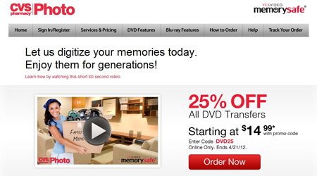 25% Off when you order online with CVS Photo