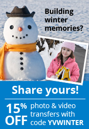 YesVideo Winter Promo 15% Off AD