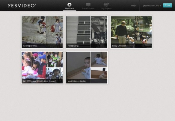 My Videos Screen