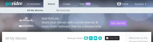 Hallmark YesVideo Homepage