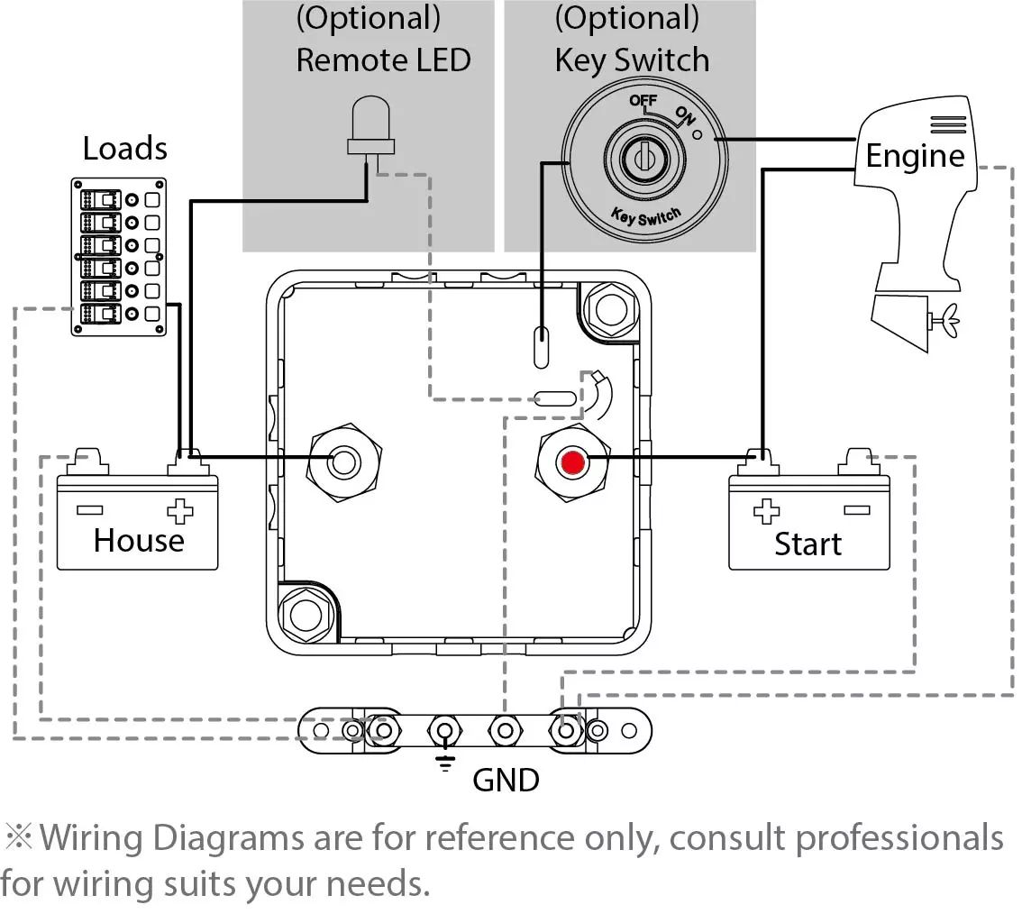 Blue Seas Vsr Wiring Diagram Auto Electrical Mlacr Automatic Charging Relay With Manual Control 12v Dc 500a Sea Systems 7622