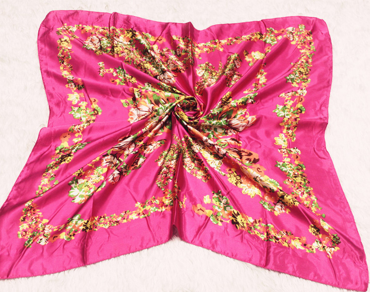 Wholesale Square Silk Scarves China Scarf