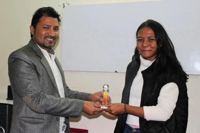 receiving prize