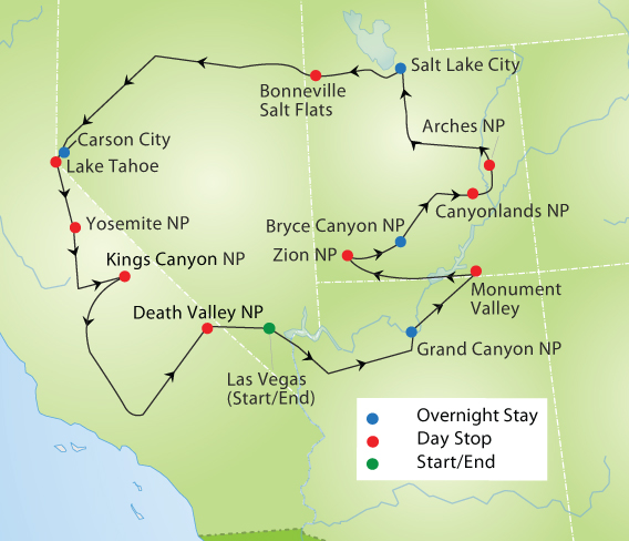 National Parks of the Golden West Tour YMT Vacations