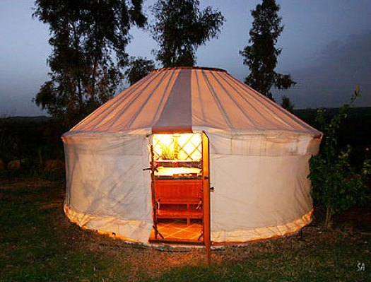 yurt eco tourism Israel