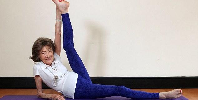 The world oldest yoga teacher