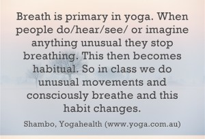 Breath is primary in yoga