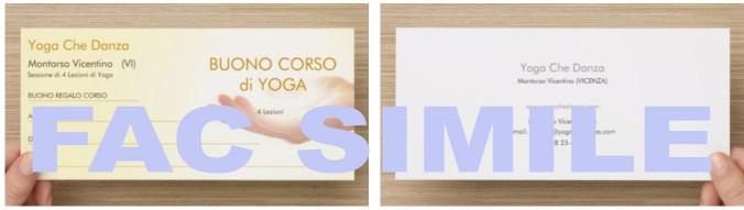 Carta regalo 4 lezioni di Yoga a Montorso