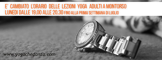 orario unificato lezioni yoga giugno montorso