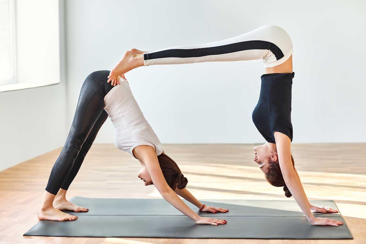 Partner Up For Yoga Pair Poses Yogamootm