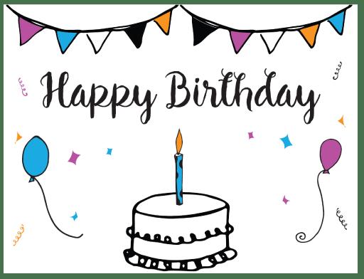 Free Printable Birthday Card Template