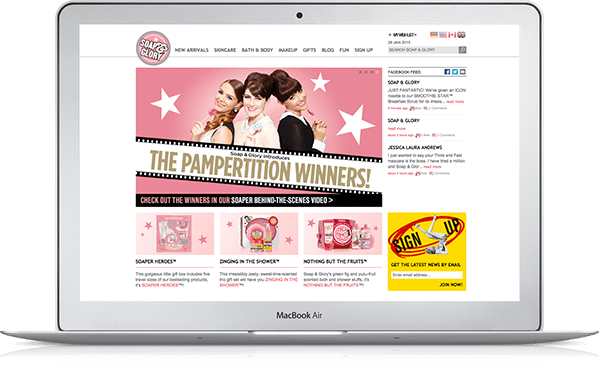 Soap & Glory Newsletter Signup CRO