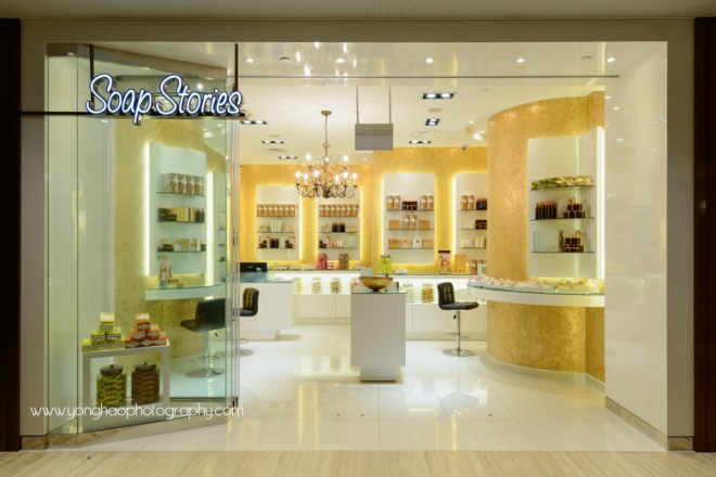 soap stories, capitol piazza, suntec city, singapore, yonghao, interior, photography, retail