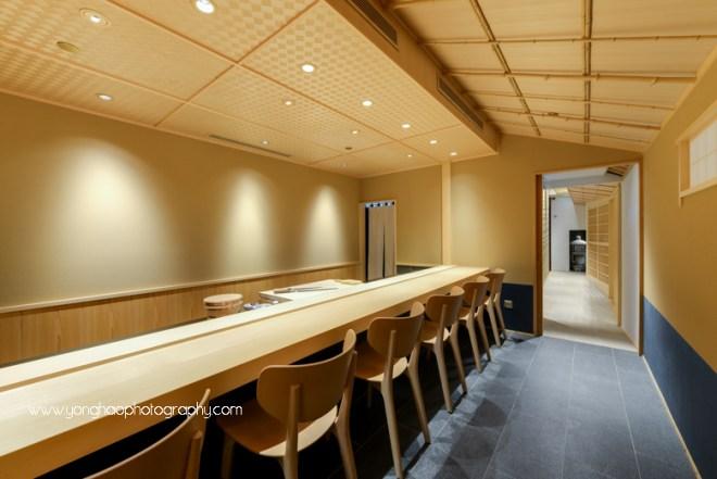 hashida, mandarin gallery, japanese restaurant, fine dining, interior photography, Singapore, orchard road, yonghao photography