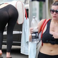 Imogen Thomas bends over again in see through leggings - just in case you didn't see it the first time
