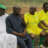 Olusegun Obasanjo Plays Soccer Match To Mark 78th Birthday