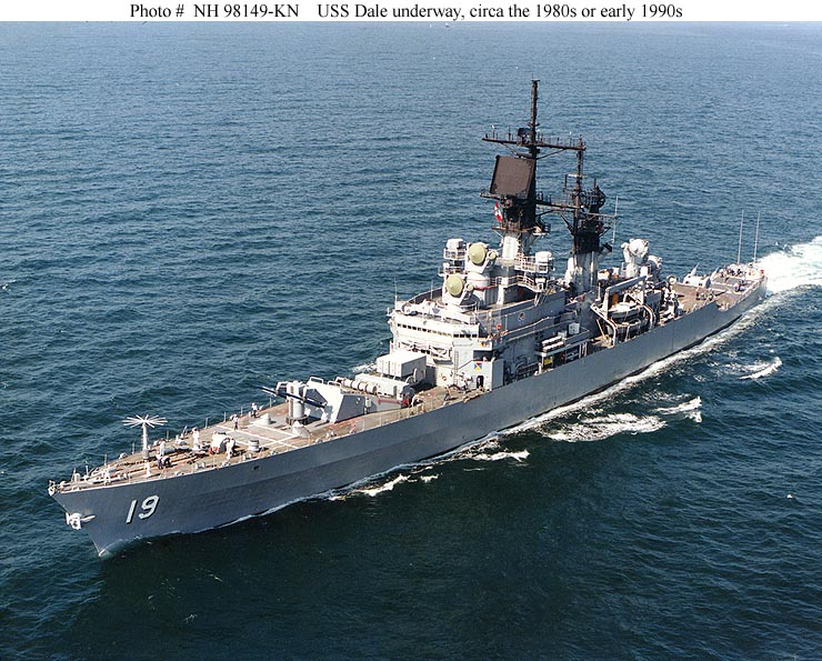 Dale, Guided missile cruiser, Leahy class, 533 ft, 7500 t, 4-3 - us navy address for resume