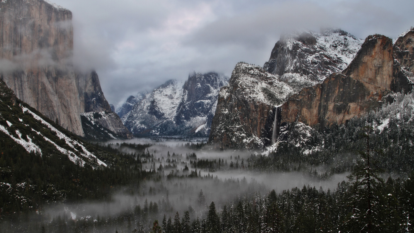 4k Laptop Wallpaper Fall Forest Free Yosemite Wallpapers Yosemite Valley In Winter