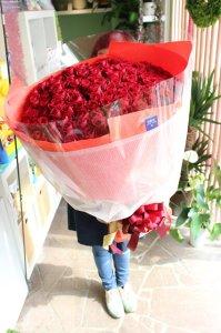 108本のプロポーズ花束