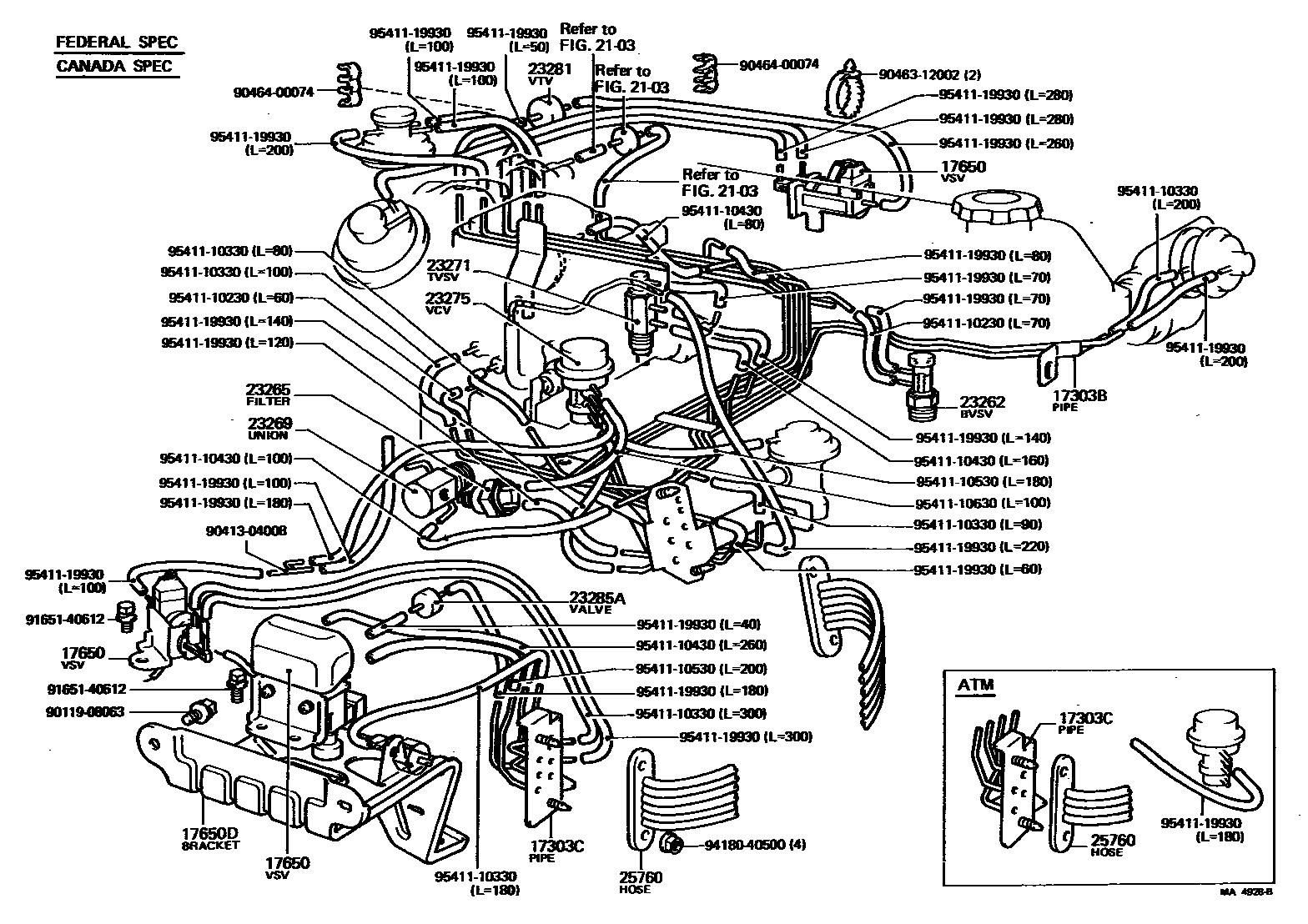 95 4 runner engine vacuun diagram