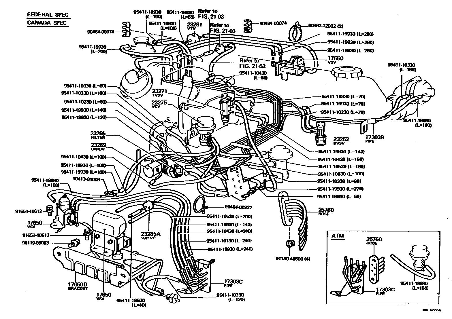 toyota 3.4 vacuum diagram