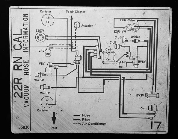1986 Toyota 22r Vacuum Diagram Electronic Schematics collections