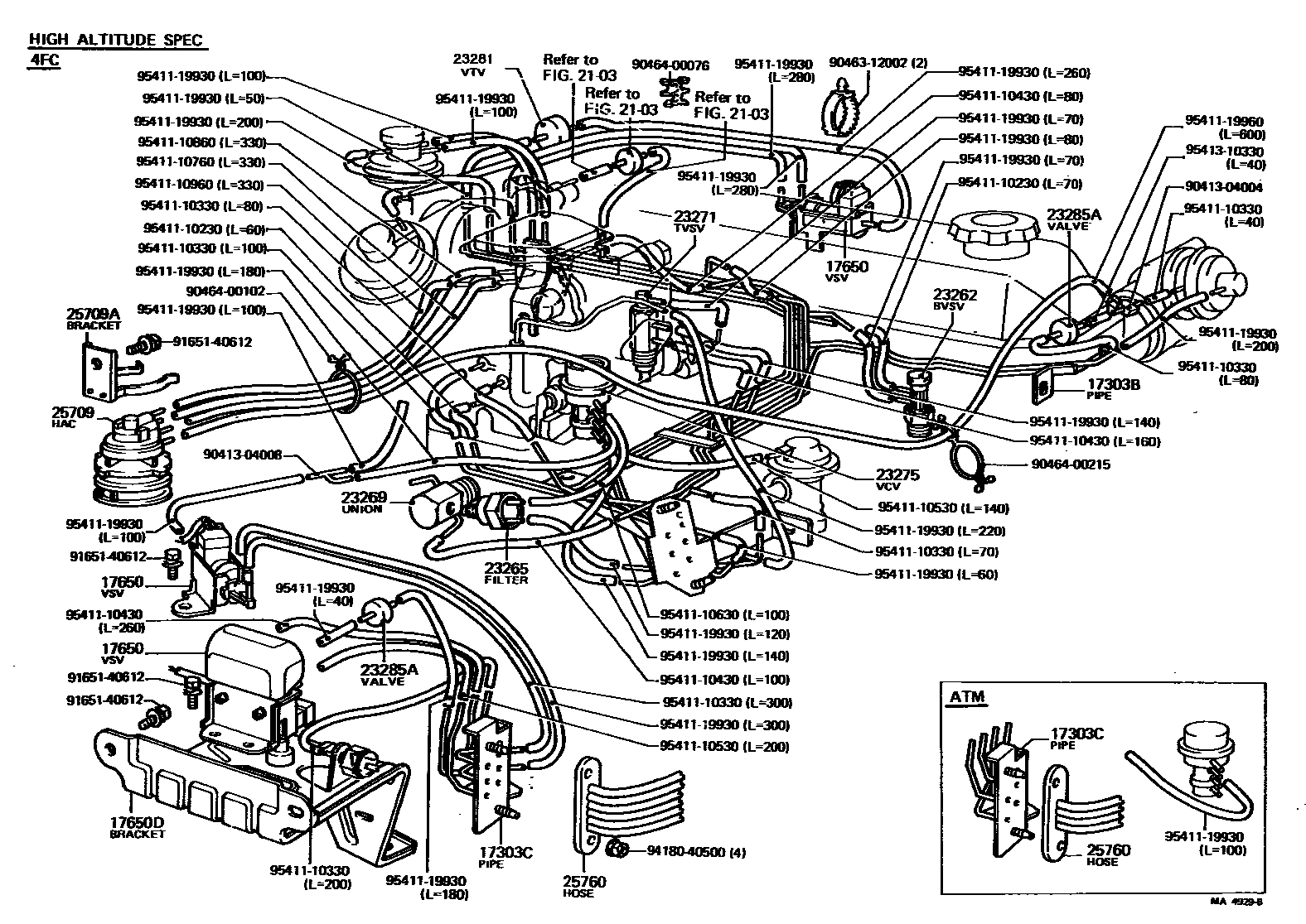 2005 toyota 4runner engine diagram