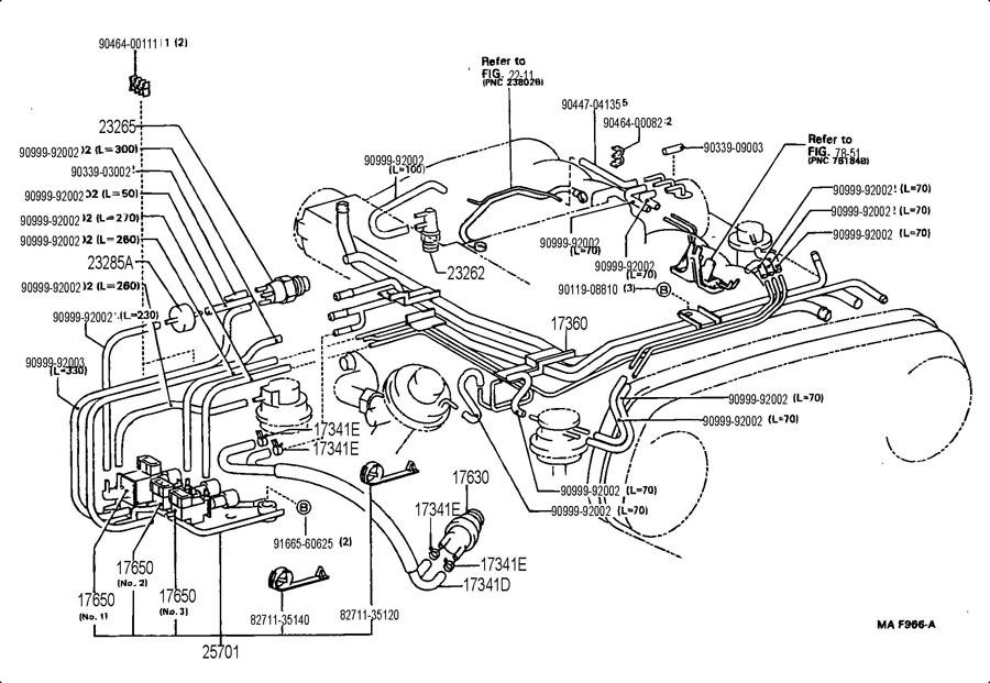 1995 toyota 4runner vacuum hose diagram