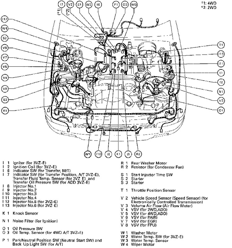 toyota 3 4 v6 Motor diagrams