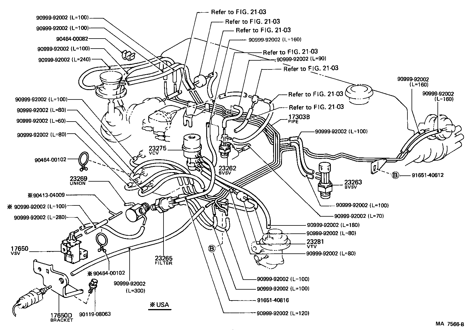 toyota pickup engine diagram