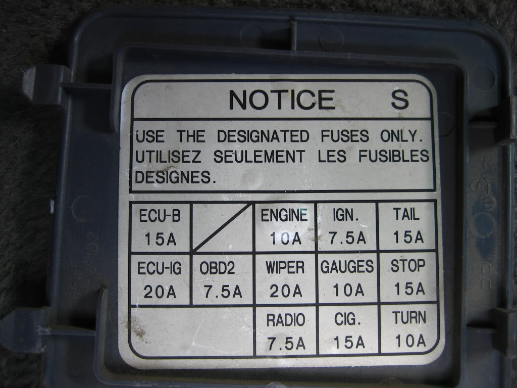 95 camry fuse box location