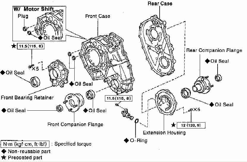 chevy transfer case leaking