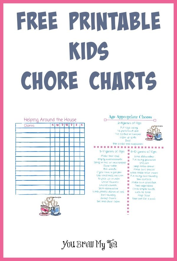 Free Printable Kids Chore Charts - - sample chore chart