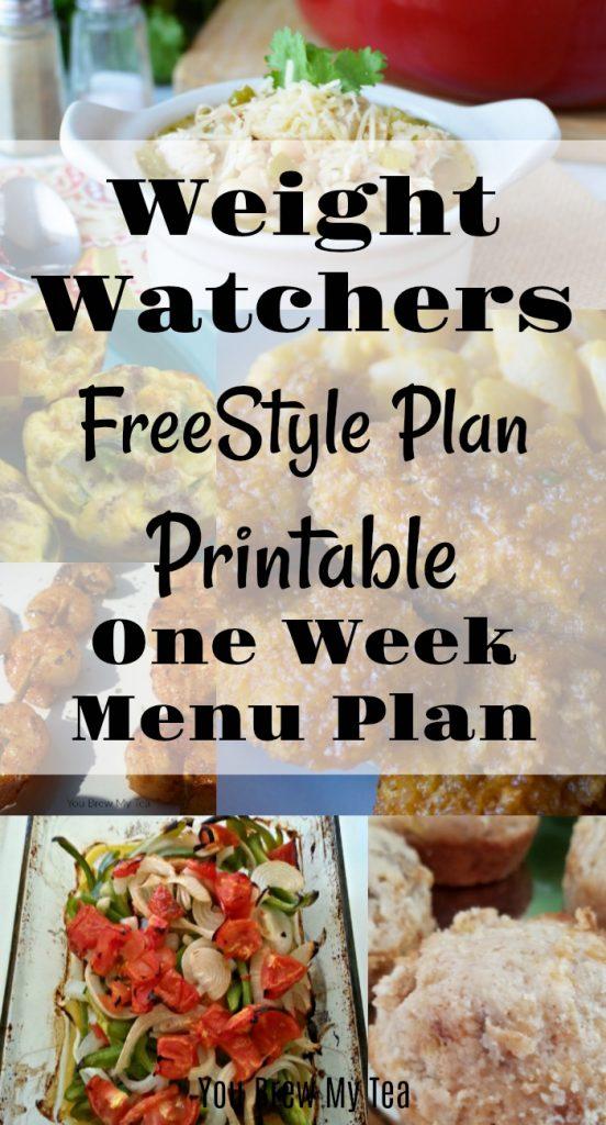 Weight Watchers FreeStyle Plan One Week Menu Plan -