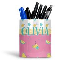Summer Lemonade Ceramic Pen Holder - YouCustomizeIt