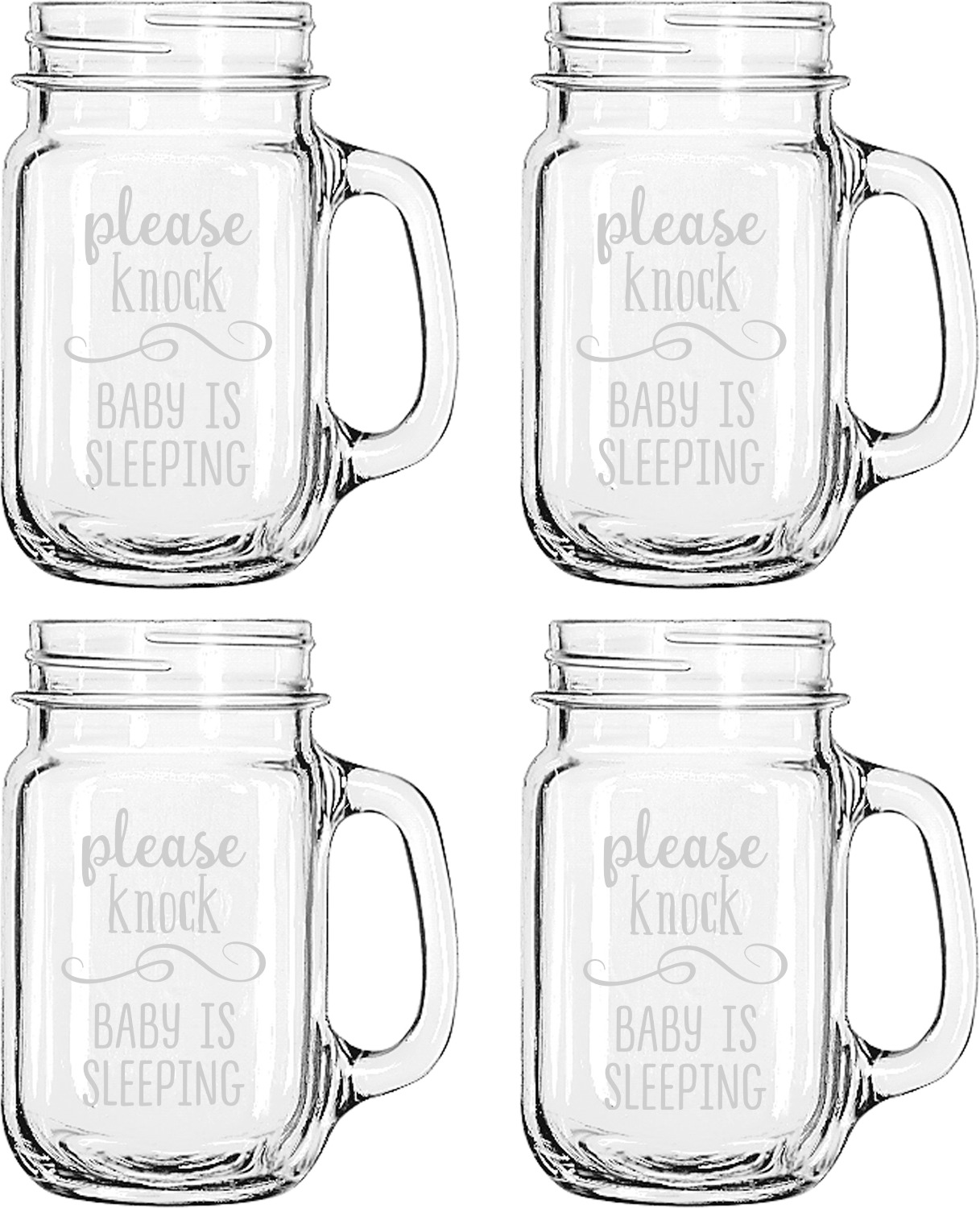 Marvelous Baby Quotes Set Four Personalized Mason Jar Mugs Baby Quotes Mason Jar Mugs Youcustomizeit Personalized Mason Jars Canada Personalized Mason Jars Baby Shower inspiration Personalized Mason Jars