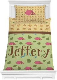 Summer Camping Comforter Set - Twin XL (Personalized ...