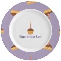 Happy Birthday Ceramic Dinner Plates (Set of 4 ...