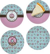 Donuts Set of 4 Glass Appetizer / Dessert Plate 8 ...