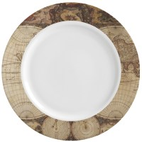 Vintage World Map Ceramic Dinner Plates (Set of 4 ...