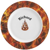 Fire Ceramic Dinner Plates (Set of 4) (Personalized ...