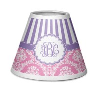 Pink & Purple Damask Chandelier Lamp Shade (Personalized ...