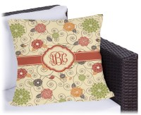 Fall Flowers Outdoor Pillow (Personalized) - YouCustomizeIt