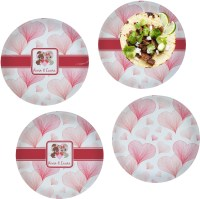 Hearts & Bunnies Glass Lunch / Dinner Plate 10 ...