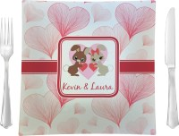 Hearts & Bunnies Square Dinner Plate (Personalized ...