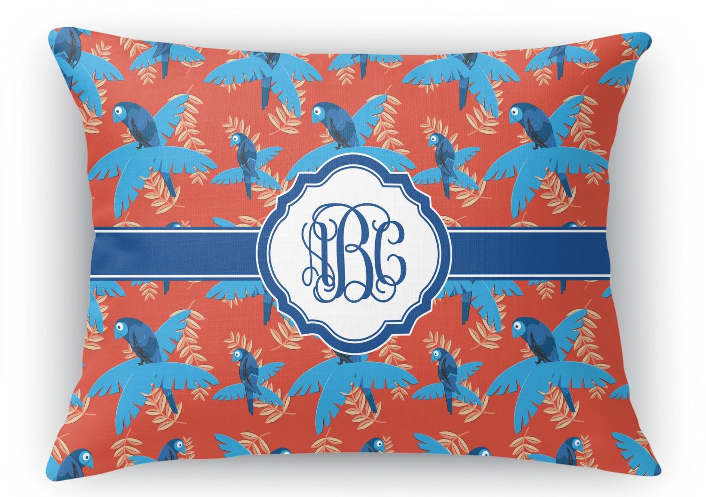Blue Parrot Rectangular Throw Pillow Case 12quotx18