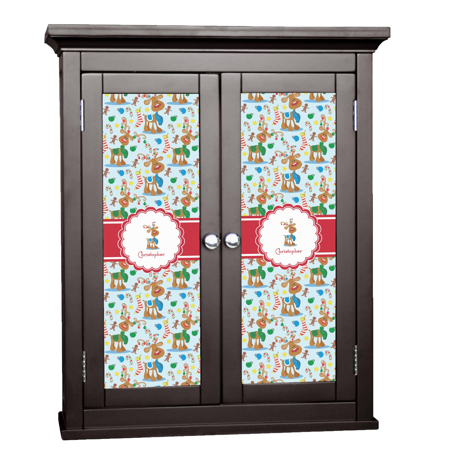 Reindeer Cabinet Decal Large Personalized Youcustomizeit