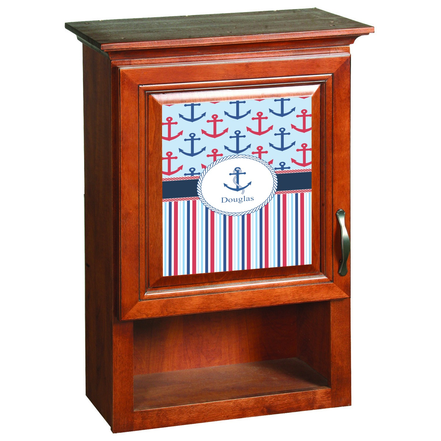 Anchors Stripes Cabinet Decal Custom Size