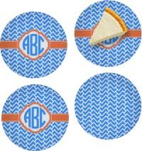 Zigzag Set of 4 Glass Appetizer / Dessert Plate 8 ...